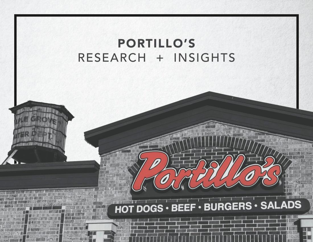 Portillo's Plan Book